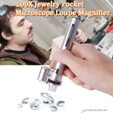 Xcsource Te77 100 X Saku Genggam Permata Perhiasan Mikroskop Alat Pembesar Kaca Pembesar With Pena 2 Lead Hong Kong Sar Tiongkok