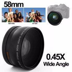 Xcsource Wide Angle Lens Lensa 58mm 0.45x With Macro For Canon Eos 650d 50d 40d 400d 450d Hitam By Hob Store.