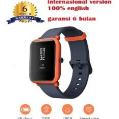 Penawaran Istimewa Xiaomi Amazfit Smart Watch Bip Bit Pace Waterproof Gps Compass English Version Orange Terbaru