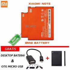 Harga Xiaomi Baterai Battery Bm42 For Xiaomi Redmi Note 3100Mah Original 100 Bonus Kabel Otg Micro Usb Desktop Charger Online Dki Jakarta