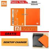 Harga Xiaomi Baterai Battery Bm45 For Xiaomi Redmi Note 2 3020Mah Original 100 Gratis Desktop Charger Original