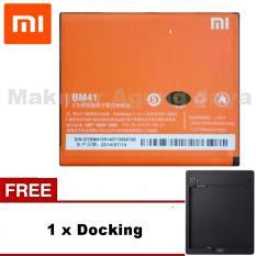 Xiaomi Baterai BM41  2050mAh For Redmi 1S - Redmi 2 + Free Docking Batrai Xiaomi