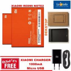 Xiaomi Baterai Redmi Note 2 BM45 Dekstop Charger Original + GRATIS Xiaomi Charger 1000mA