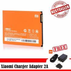 Spesifikasi Xiaomi Baterry Bm42 For Xiaomi Redmi Note Original Free Xiaomi Charger Adapter 2A Lengkap Dengan Harga