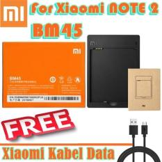 Xiaomi Battery BM45+DEKSTOP For Redmi Note 2 + FREE Kabel Data Xiaomi Micro USB Fast