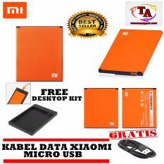 Xiaomi Battery Redmi 2s BM44 Original + Desktop + Free Kabel Xiaomi Micro USB