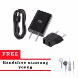 Miliki Segera Xiaomi Charger 5V 2A Micro Usb Kabel Original Hitam Samsung Handsfree Headset Earphone For S6310 5360 Putih