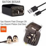 Xiaomi Charger Fast 2A Orignal Include Strecker Free Xiaomi Piston 2Nd Gen Handsfree Earphone Headset Promo Beli 1 Gratis 1
