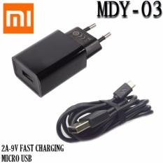 Xiaomi Charger MDY-03 Fast Charging 2A-9V Micro USB Original - Hitam