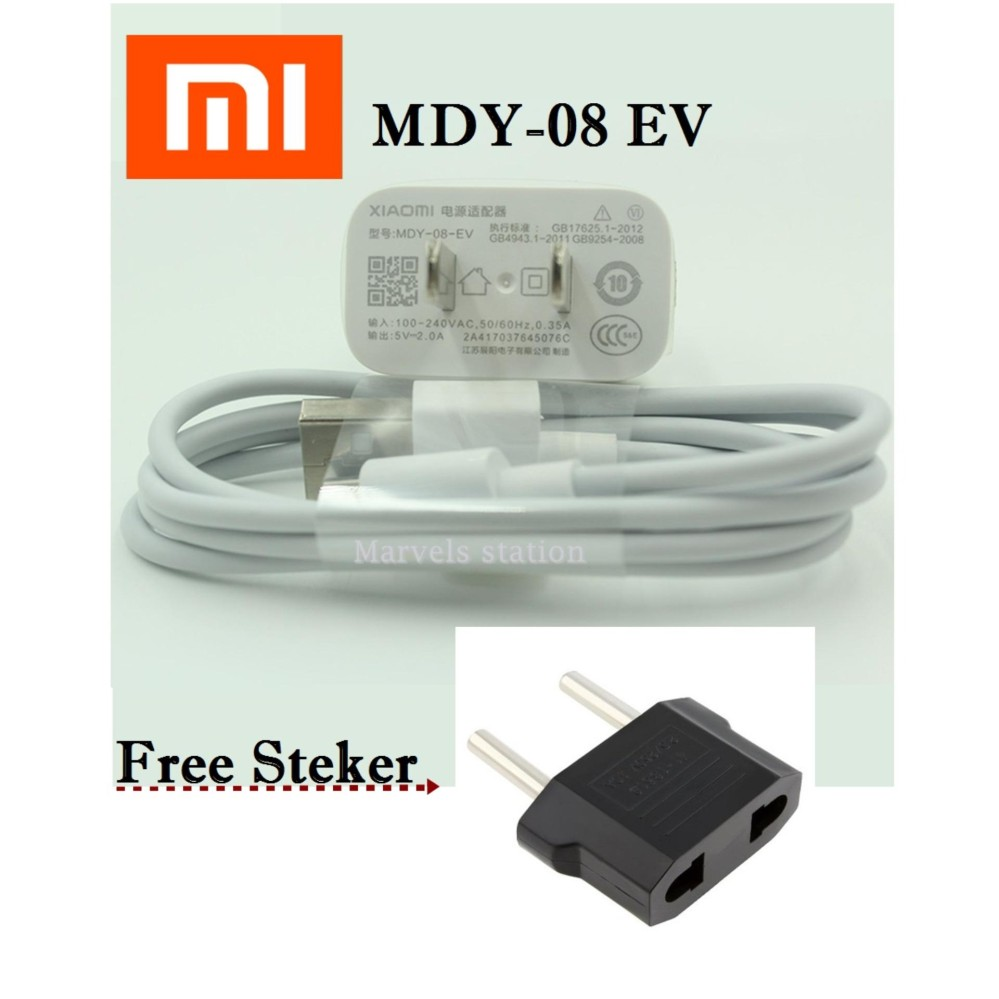 Jual Xiaomi Charger Micro Usb Mdy 08 Ev For Redmi 4X Fast Charger Original Grosir
