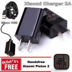 Iklan Xiaomi Charger Travel 2A 5V Micro Usb Cabel Gratis Xiaomi Handsfree Piston2 Hitam