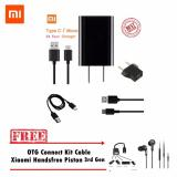 Jual Xiaomi Charger Type C Original Gratis Otg Connect Kit Cable Handsfree Piston 3Rd Generation Grosir