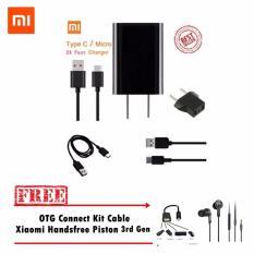 Obral Xiaomi Charger Type C Original Gratis Otg Connect Kit Cable Handsfree Piston 3Rd Generation Murah