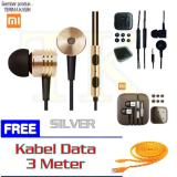 Harga Xiaomi Earphone Big Bass Piston Mi 2Nd Generation Handsfree Headset Gold Black Silver Free Kabel Data Tali Sepatu 3 Meter Random Xiao Mi Ori