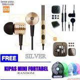 Harga Xiaomi Earphone Big Bass Piston Mi 2Nd Generation Handsfree Headset Gold Black Silver Free Kipas Mini Portabel Xiaomi Baru