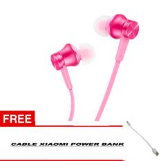 Jual Xiaomi Handsfree In Ear Piston Mi Original 3Rd Gen Handsfree Headset Stereo Free Kabel Power Bank Xiaomi Pink Import