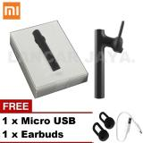 Spesifikasi Xiaomi Headset Bluetooth 4 1 Earphone Build In Mic Original Handfree For Xiaomi Redmi Note 2 Black Gratis Micro Usb Earbuds Terbaru