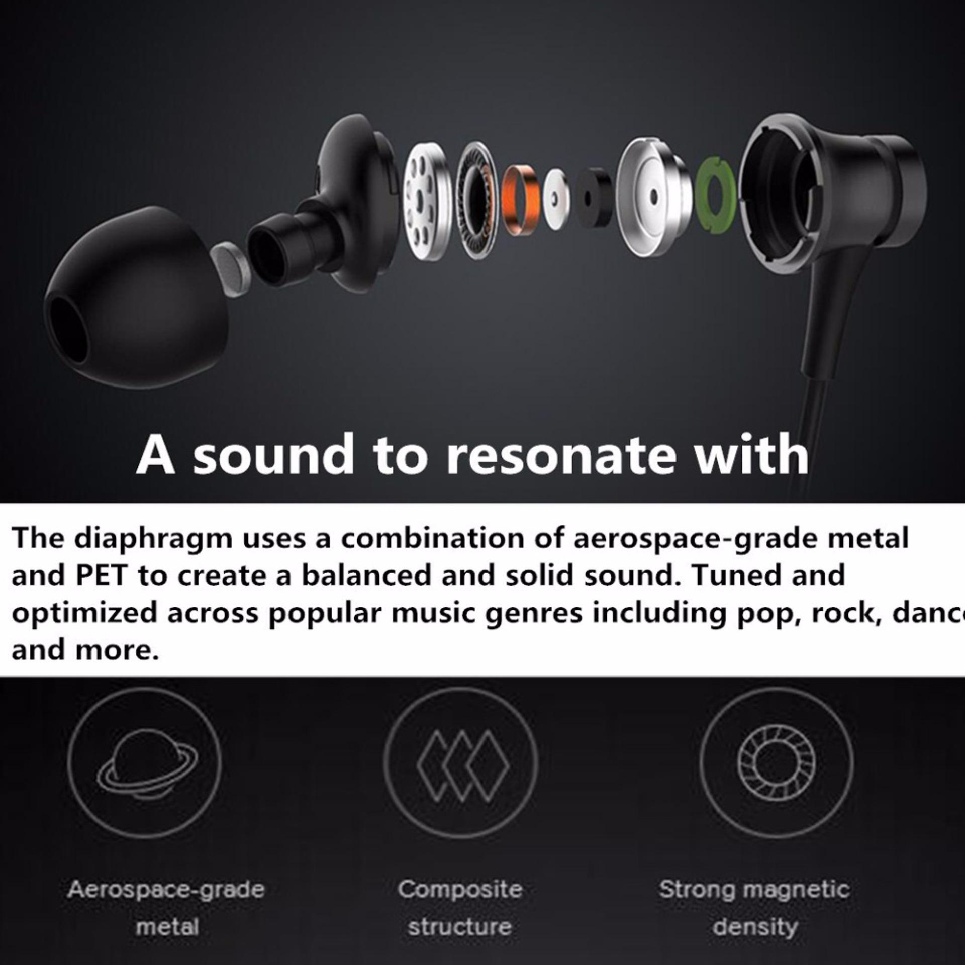 Jual Xiaomi Headset Earphone Mi Piston Aluminium Fresh Edition Hitam Ori