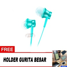 Miliki Segera Xiaomi In Ear Piston Mi Original 3Rd Gen Handsfree Xiaomi Headset Xiaomi Earphone Piston Free Holder Handphone Gurita Besar Random Warna Biru