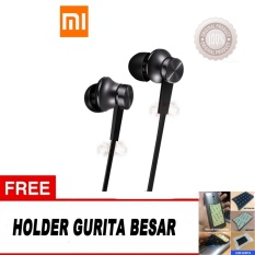 Xiaomi In Ear Piston Mi Original 3Rd Gen Handsfree Xiaomi Headset Xiaomi Earphone Xiaomi Free Bonus Holder Hp Gurita Warna Random Hitam Promo Beli 1 Gratis 1