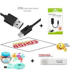 Xiaomi kabel data 2A Fast Charging + OTG Connect KIT Free Kabel Vivan Csm 100 + Toshiba Flashdisk 8GB - New Original