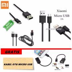 Xiaomi Kabel Data Micro Usb 2A / Universal Gadget - Original 100% + Gratis Kabel Otg Micro Usb