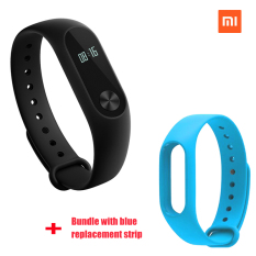 Review Toko Xiaomi Mi Band 2 Smart Bluetooth Gelang Biru Penggantian Strip Bundel