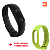 Harga Xiaomi Mi Band 2 Smart Bluetooth Gelang Hijau Strip Pengganti Bundel Asli