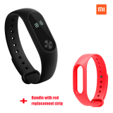 Xiaomi Mi Band 2 Smart Bluetooth Gelang Merah Penggantian Strip Bundel Terbaru