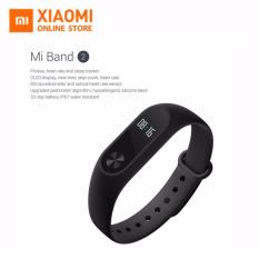 Harga Xiaomi Mi Band 2 Smart Bracelet With 42 Oled Display Touch Key Control Heart Rate Monitor Hitam Xiaomi Original