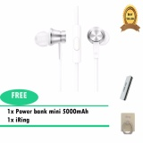 Xiaomi Mi Piston Fundamental Earphone Original Colorful Edition V2 Value Pack Silver Iring Mobile Phone Stand Silver Power Bank Original 5000 Mah Silver Dki Jakarta