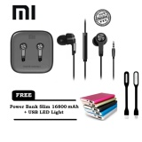 Harga Xiaomi Mi Piston Huosai Earphone 3 Generation Original Free Power Bank Slim 16800 Mah Usb Led Light Xiaomi Baru
