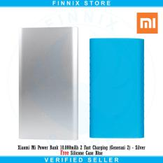 Beli Barang Xiaomi Mi Power Bank 10 000Mah 2 Fast Charging Generasi 2 Silver Free Silicone Case Blue Online