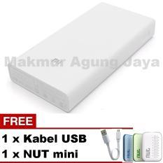Jual Xiaomi Mi Power Bank 20 000Mah Original White Putih Silver Free Usb Micro Free Nut Mini Warna Acak Online Dki Jakarta