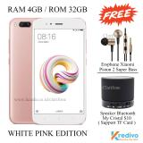 Promo Xiaomi Mi5X Ram 4Gb Rom 32Gb 4G Fingerprint White Pink Akhir Tahun