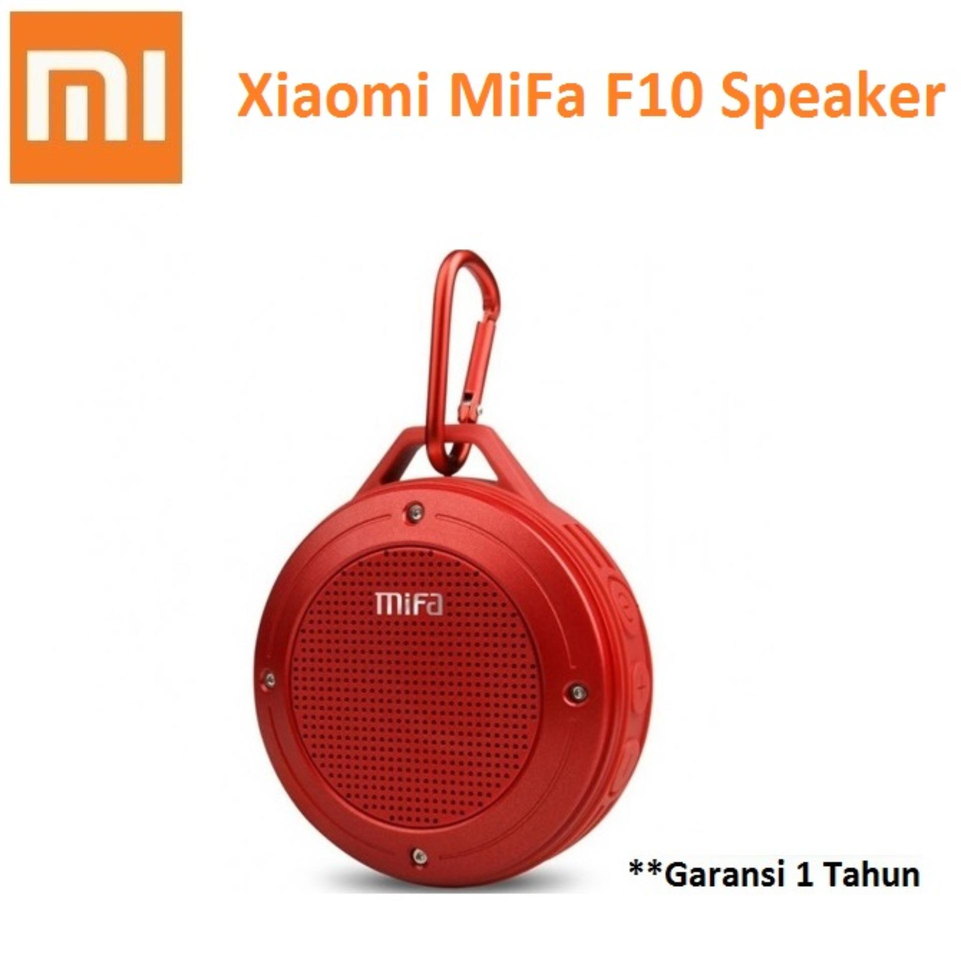 Spesifikasi Xiaomi Mifa F10 Outdoor Waterproof Ipx6 Bluetooth Portable Speaker Merah Murah