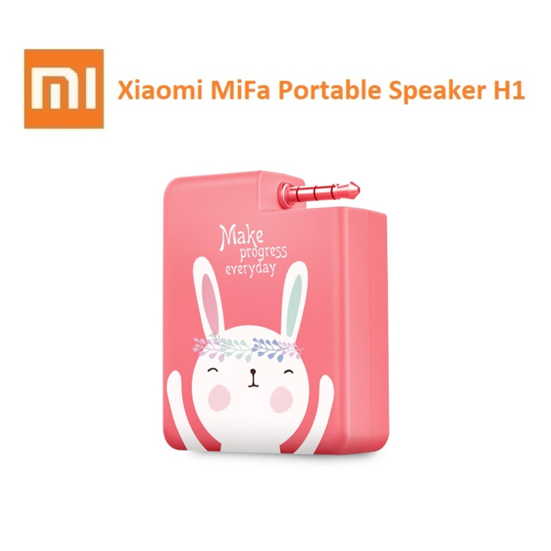 Spesifikasi Xiaomi Mifa H1 Portable Speaker Stereo Mini 3 5Mm Audio Plug N Play Merah Muda Dan Harga