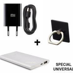 Promo Xiaomi Original 100 Travel Adapter Charger Ring Stant Powerbank Slim Paket Universal For All Type Hp Nu0403 Di Dki Jakarta