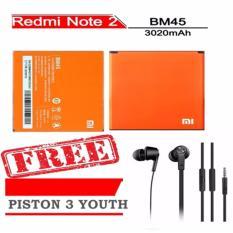 Toko Xiaomi Original Baterai Bm45 Untuk Xiaomi Redmi Note 2 Orange Gratis Handsfree Xiaomi Piston 3 Youth Hitam Lengkap