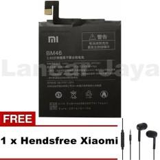 XIAOMI ORIGINAL BATTERY / BATERE / BATRE BM 46 Untuk Xiaomi REDMI NOTE 3 / 3 PRO + Free Hendsfree Xiaomi Warna Acak