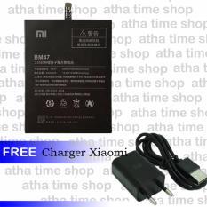 Xiaomi Original Battery BM47 for Redmi 3 or 3 Pro - Black [4000 mAh] + Free Charger Xiaomi