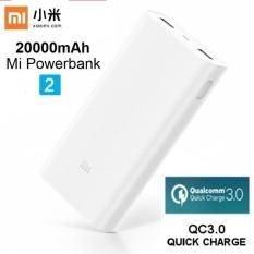 Xiaomi ORIGINAL Power Bank 20000 mah 2C generation 2nd PowerBank 20000mah - Putih