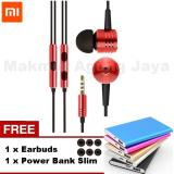 Harga Xiaomi Piston 2 Earphone Big Bass Piston Mi 2Nd Generation Handsfree Headset Red Merah Free Earbuds Power Bank Slim Baru