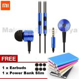 Beli Xiaomi Piston 2 Heandset Hendsfree Big Bass Piston Mi 2Nd Generation Handsfree Headset Blue Biru Free Earbuds Power Bank Slim Xiaomi Dengan Harga Terjangkau