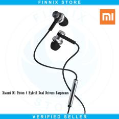 Model Xiaomi Mi Piston 4 Hybrid Dual Drivers Earphones Headset Silver Terbaru