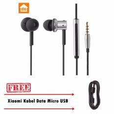 Xiaomi Piston 4 Hybrid Headset - Silver + Free Xiaomi Kabel Data Micro USB