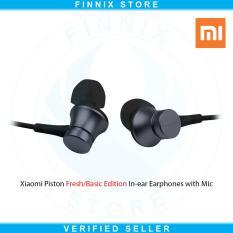 Jual Xiaomi Piston Fresh Or Basic Edition In Ear Earphones With Mic Original Black Xiaomi Original