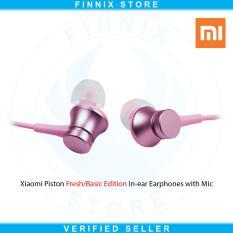 Harga Xiaomi Piston Fresh Or Basic Edition In Ear Earphones With Mic Original Pink Original