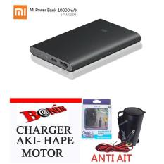 Xiaomi powerbank  10000mAh Real original 100%  garansi  resmi 8 bulan gratis CARGER AKI hape motor anti air