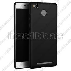 Xiaomi Redmi 3s Pro Baby Skin Soft Anti Fingerprint Babby Skin Softase Silicon Slim Matte Ultra Slim - Black